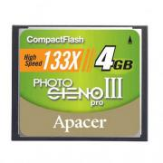 Apacer Photo Steno Pro III Compactflash 133X 4GB Memory Card