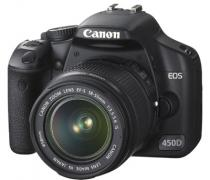 Canon EOS 450D Twin Lens Kit Black w/ 18-55mm & 75-300mm Lens Digital SLR Camera (Canon Aust)